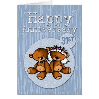 happy anniversary bears - 31 year card