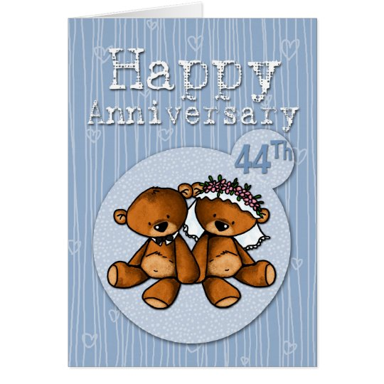 happy anniversary bears - 44 year card