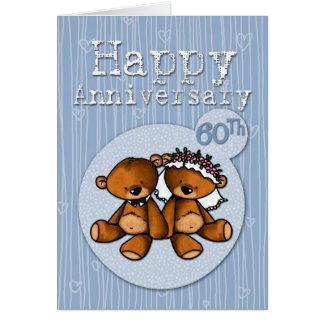 happy anniversary bears - 60 year card