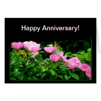 Happy Anniversary-Black Rose Trail Greeting Cards