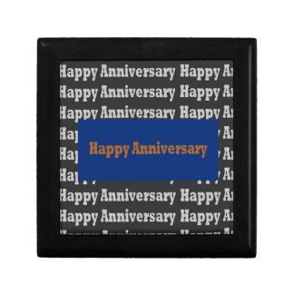 Happy Anniversary  Blue Gold White Black GIFTS Jewelry Box
