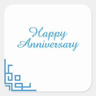 Happy Anniversary Blue Stickers