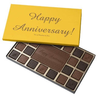 Happy Anniversary Box of Chocolates by Janz
