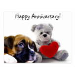Happy Anniversary Boxer Greeting Card Post Card