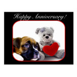 Happy Anniversary Boxer Greeting Card Postcard
