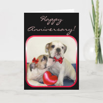 Happy Anniversary Bulldogs greeting card