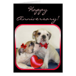 Happy Anniversary Bulldogs greeting card