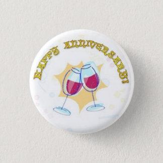 Happy Anniversary Button Pin