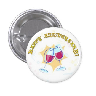Happy Anniversary Button Pin