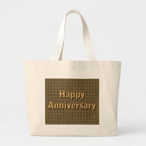 Happy Anniversary Canvas Bags
