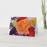 "Happy Anniversary Card<br><div class=""desc"">Varigated color Rose Bouguet</div>"