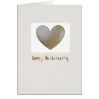 Happy Anniversary card with heart shaped pearl