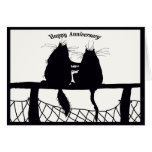happy Anniversary ,cat couple Greeting Card