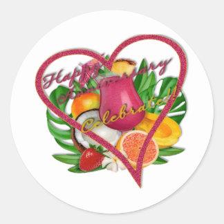 Happy Anniversary Celebrate t Classic Round Sticker