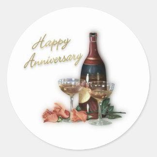 Happy Anniversary Celebration Classic Round Sticker