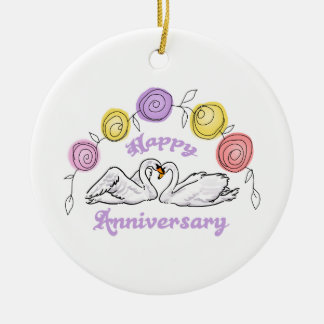 Happy Anniversary Ceramic Ornament