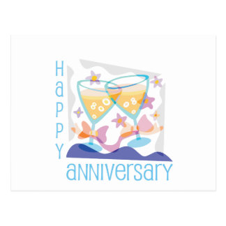 """Happy Anniversary"" Champagne design Postcard"