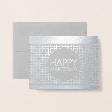 Professional Business Happy Anniversary CinderStripe Foil Card