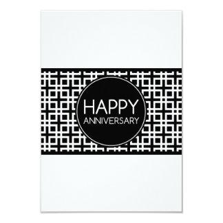 Happy Anniversary (cinderStripe) 3.5x5 Paper Invitation Card