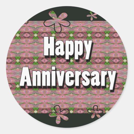 Happy Anniversary Classic Round Sticker