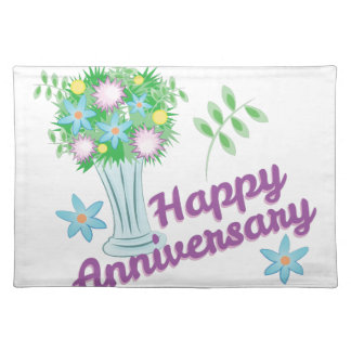 Happy Anniversary Cloth Placemat