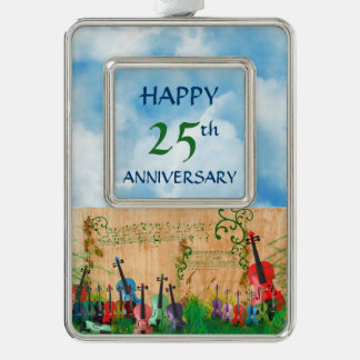 Happy Anniversary Colorful Music Group Custom Text Christmas Ornament