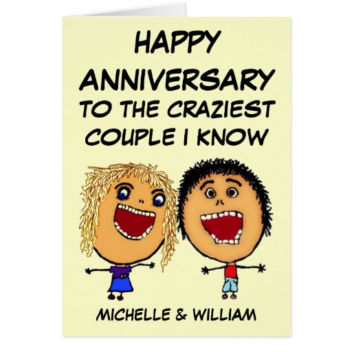 24th Wedding Anniversary Gift For Husband : Happy Anniversary Craziest Couple I know Greeting Cards