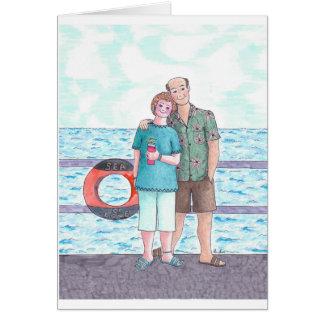 Happy Anniversary-Cruisin' the sea of love Card