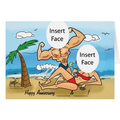 Happy Anniversary Custom Photo Caricature Card