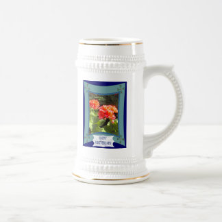 Happy Anniversary, customize words and numbers Beer Stein