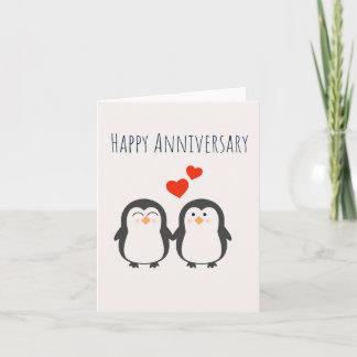 Happy Anniversary- Cute Penguin Couple Card