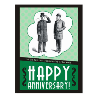 Happy Anniversary Dads Postcard