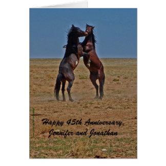 Happy Anniversary Dancing Horses Click Up Yr Heels Card