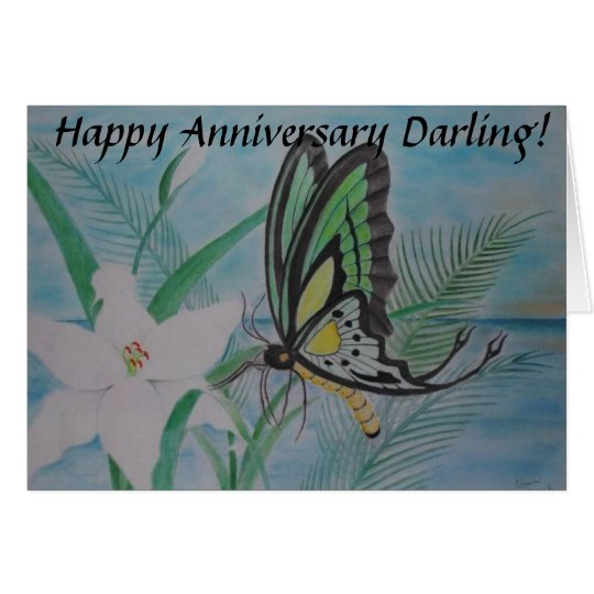 Happy Anniversary Darling Card