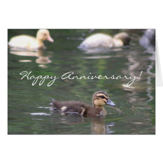 Happy Anniversary Ducklings greeting card
