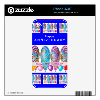 Happy ANNIVERSARY :Editable text Let CHANGE iPhone 4S Decal