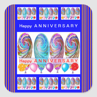 Happy ANNIVERSARY :Editable text Let CHANGE Square Stickers