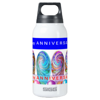 Happy ANNIVERSARY :Editable text Let CHANGE Thermos Water Bottle