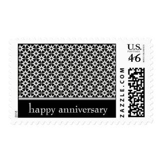 happy anniversary : elegant floral : stamp