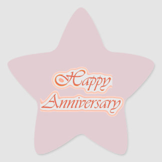HAPPY Anniversary : Elegant Text  Background Color Stickers