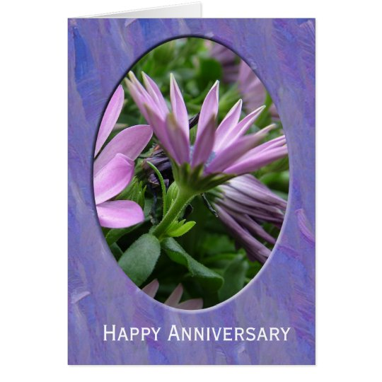 Happy Anniversary flower card. Card