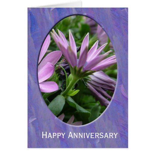 Happy Anniversary flower card. Greeting Cards