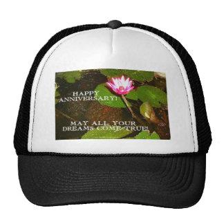 HAPPY ANNIVERSARY/FLOWER CHILD HAT