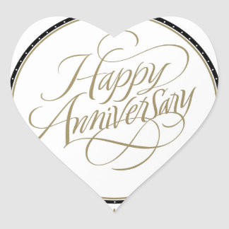 HAPPY ANNIVERSARY GIFTS HEART STICKER