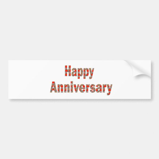 HAPPY Anniversary GIFTS n ReturnGIFTS LOWPRICES Bumper Sticker
