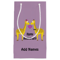 Happy Anniversary Giraffes Small Gift Bag