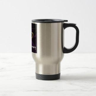Happy Anniversary - Gold rings on purple Coffee Mugs