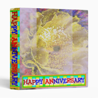 Happy Anniversary:  Golden Glory by Naveen 2 3 Ring Binder