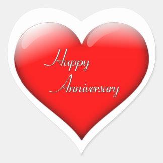 Happy Anniversary Heart Sticker