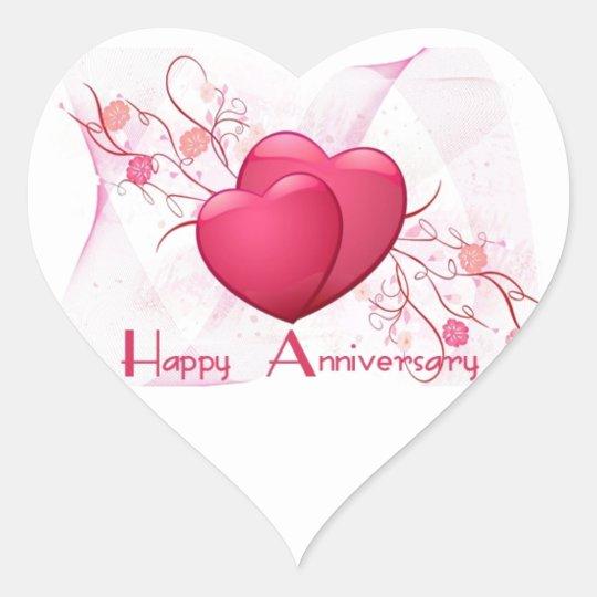 happy anniversary hearts heart sticker zazzle com